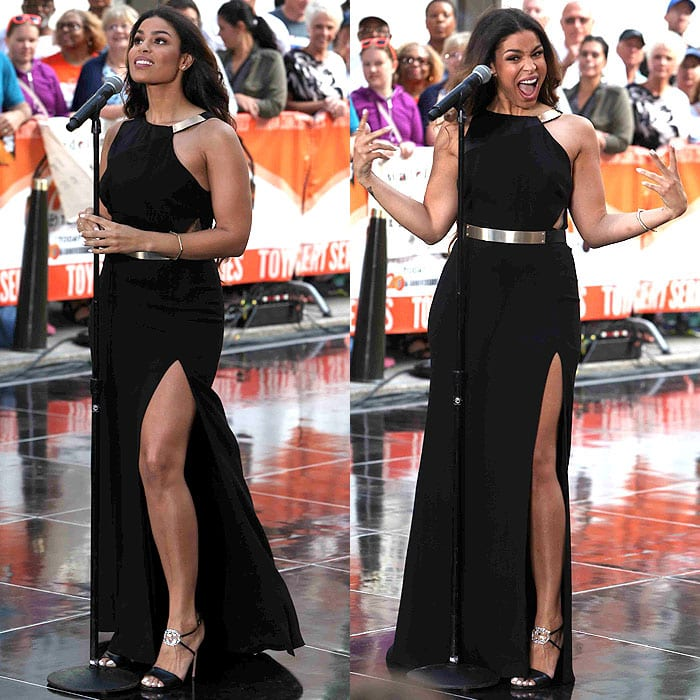 "Jordin Sparks performs on the ""Today"" show at Rockefeller Center"