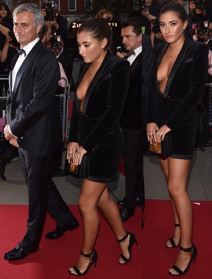 Jose Mourinho's hot daughter Matilde went braless in a sexy dress