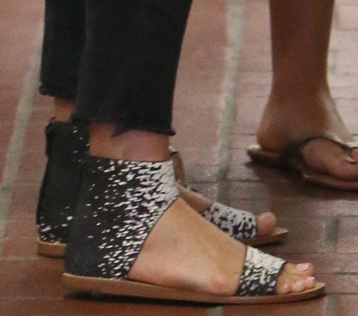 Julianne Hough shows off her feet in Loeffler Randall sandals