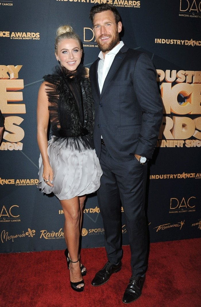 Julianne Hough and her husband Brooks Laich attend the 2019 Industry Dance Awards