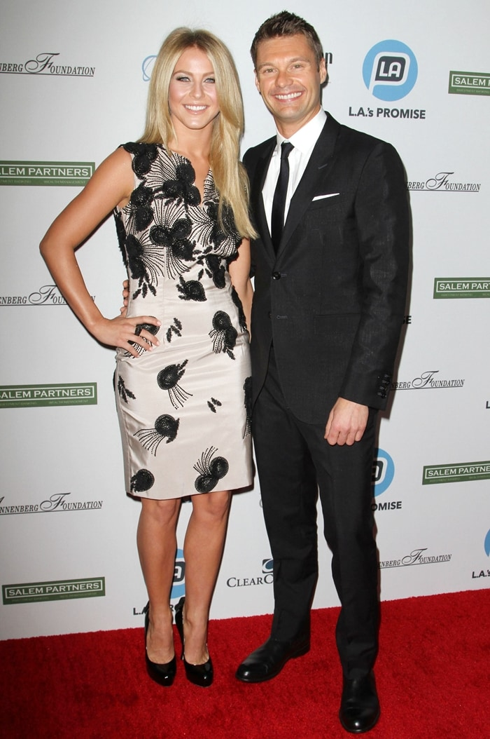 Julianne Hough dated Ryan Seacrest for three years from April 2010 to March 2013