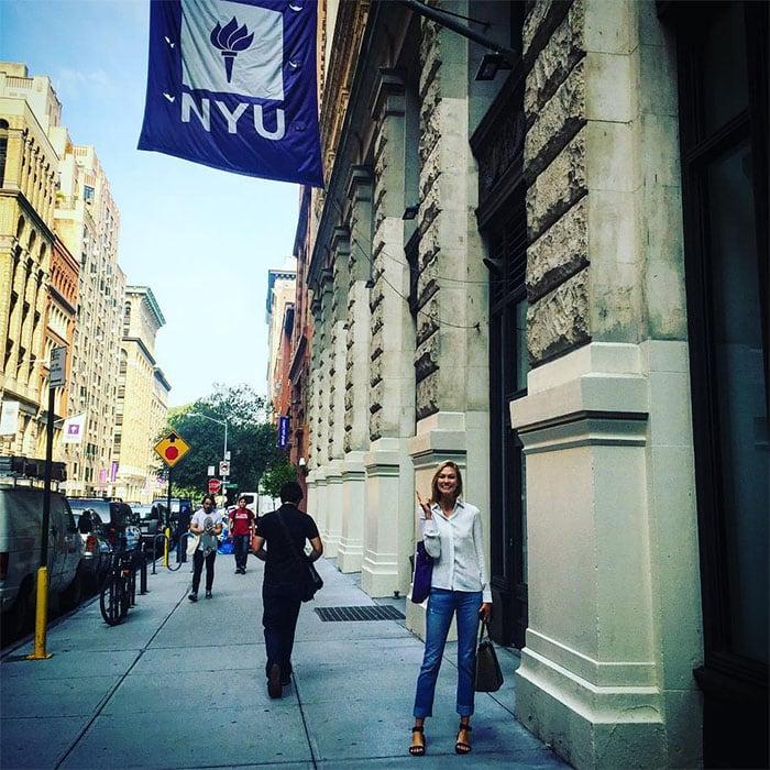 Karlie Kloss attending New York University