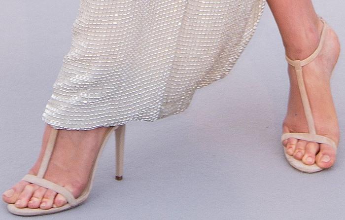 Karlie Kloss' hot feet in Jimmy Choo shoes