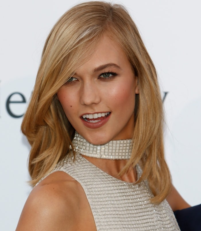 Karlie Kloss at amfAR's Cinema Against AIDS Gala held during the 2015 Cannes Film Festival at Hotel du Cap-Eden-Roc in Cap d'Antibes, France on May 21, 2015