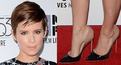 """92b4fc049d3a Kate Mara in Space-Themed Valentino Mini Dress and Christian Louboutin  Pumps at """"The Martian"""" New York Festival Premiere"""