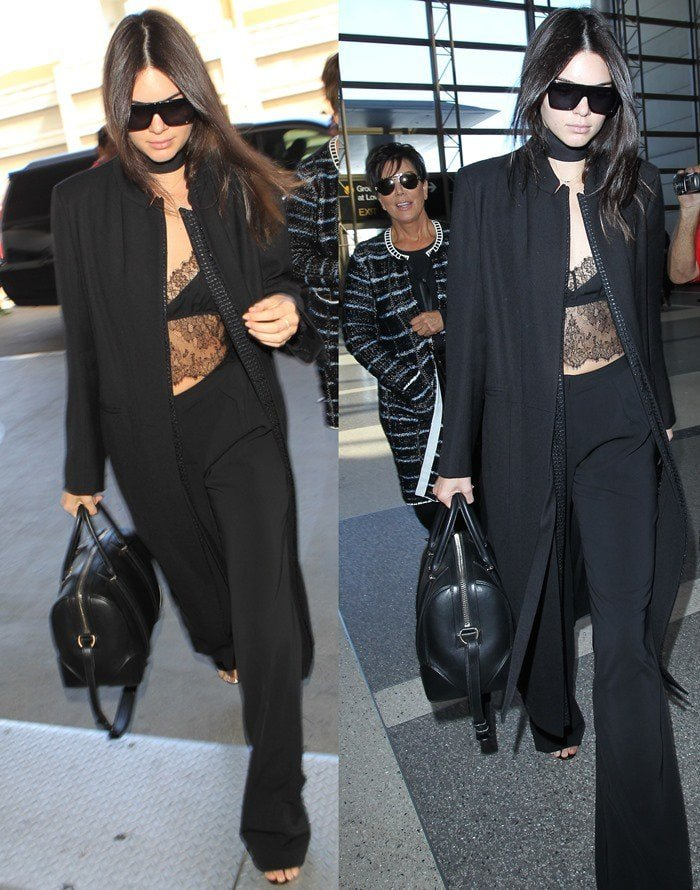 Kendall Jenner rockingstretch viscose Sally LaPointe pants