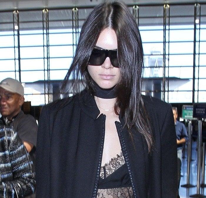 Kendall Jenner's virgin wool-blend Ann Demeulemeester belted coat