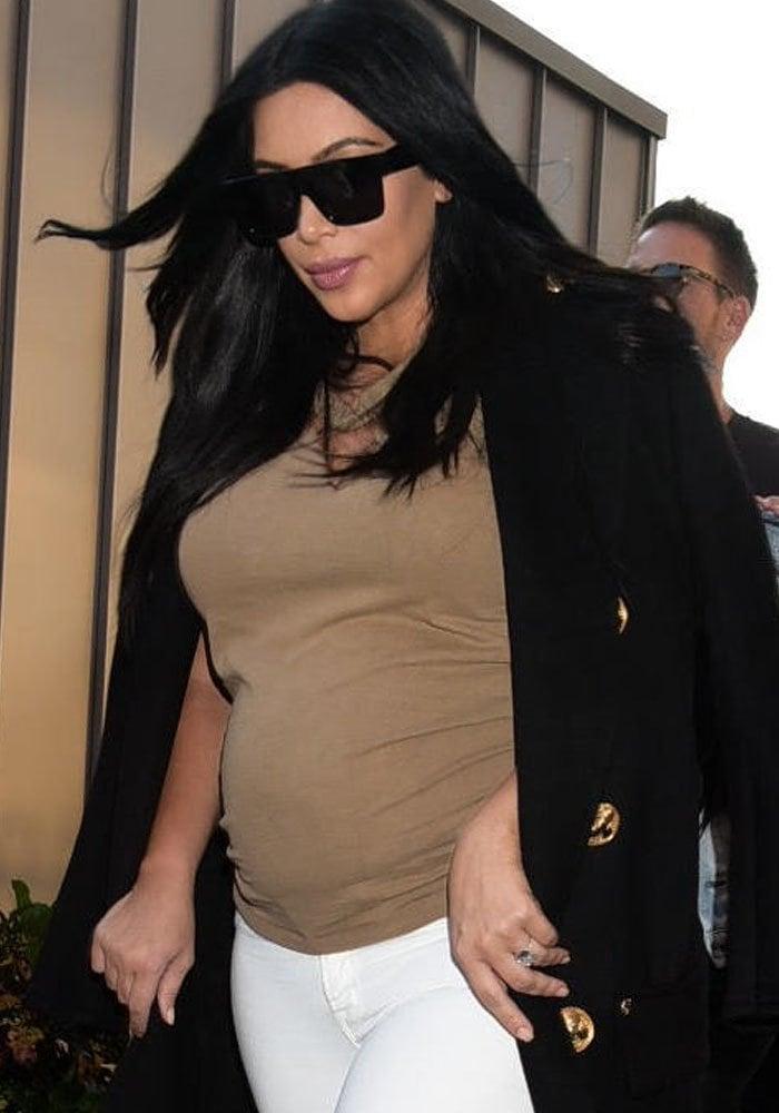 Kim Kardashian arrives at Day 9 of the 2015 Tennis U.S. Open