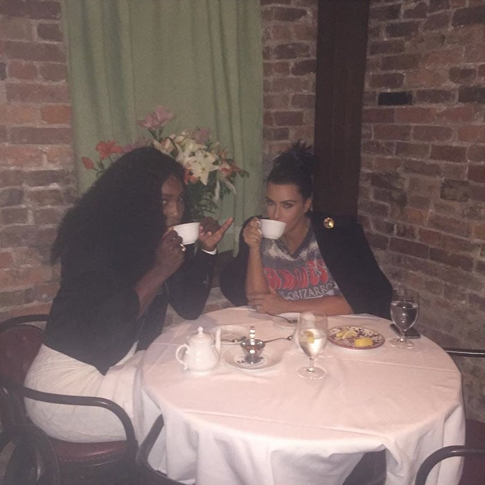 Kim Kardashian and Serena Williams spent time together prior to the 2015 Tennis U.S. Open