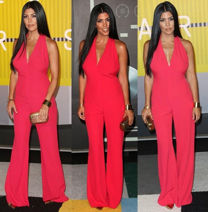Kourtney Kardashian at the 2015 MTV Video Music Awards