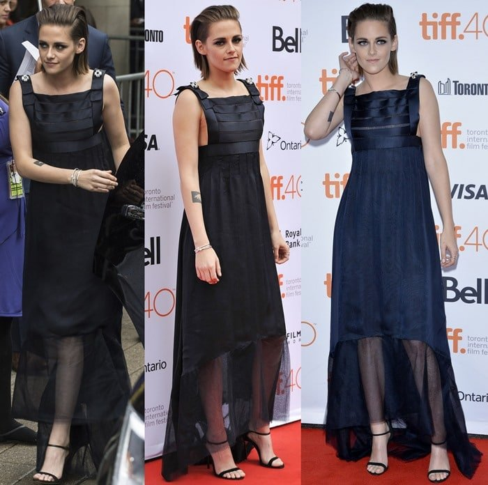 Kristen Stewart graces the red carpet of the festival in a dramatic Chanel gown