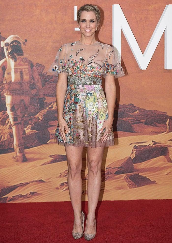 Kristen Wiig Stuns in Whimsical Valentino Mini Dress and ...
