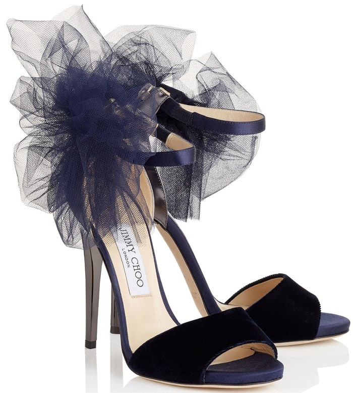 Jimmy Choo Lilyth Blue Tulle Sandal