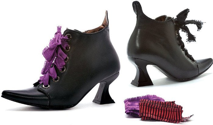 Lace Up Witch Shoes