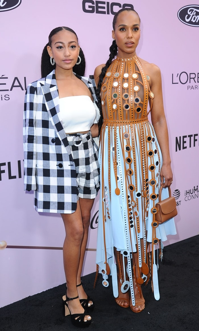 Lexi Underwood and her onscreen mother Kerry Washington attend the 13th Annual Essence Black Women In Hollywood Awards Luncheon
