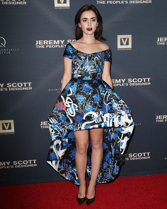 Lily-Collins-Jeremy-Scott-The-People's-Designer-premiere