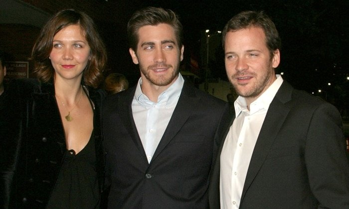 Maggie Gyllenhaal with her brother Jake Gyllenhaal, and her brother Peter Sarsgaard