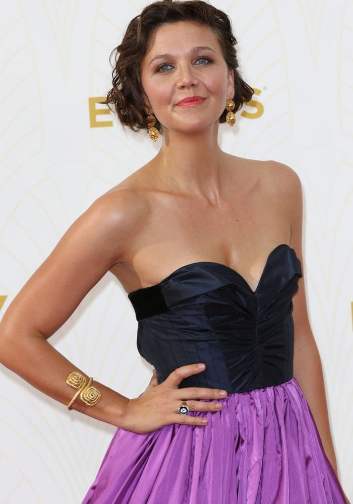 Maggie Gyllenhaal at the 67th Annual Primetime Emmy Awards