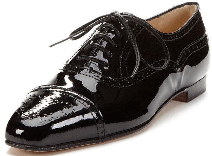 Manolo Blahnik Bath Patent Brogue