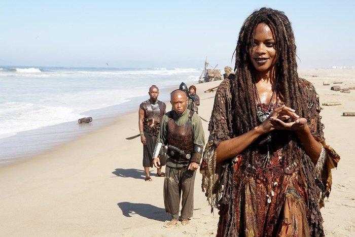 Naomie Harris as the sea goddess Calypso (Tia Dalma) in Pirates of the Caribbean: At World's End