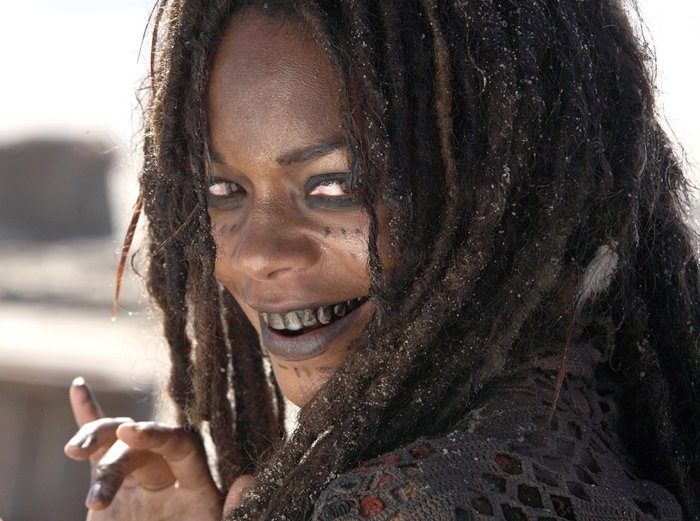 Later revealed to be the sea goddess Calypso, Naomie Harris played the role of Tia Dalma in the films Pirates of the Caribbean: Dead Man's Chest and Pirates of the Caribbean: At World's End