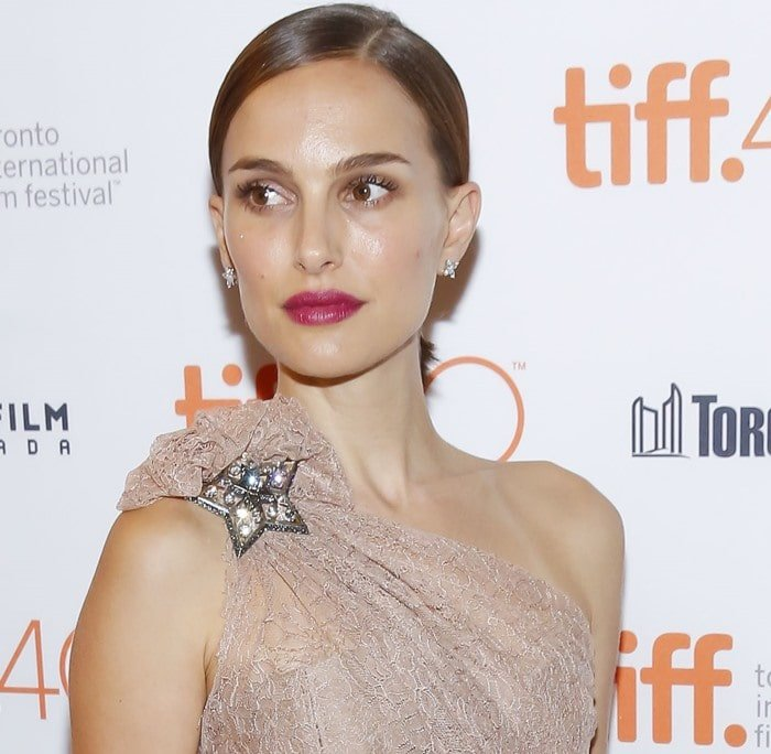 "Natalie Portman attends the premiere of ""A Tale of Love and Darkness"" held September 10, 2015 during the 2015 Toronto International Film Festival at the Winter Garden Theatre in Toronto"