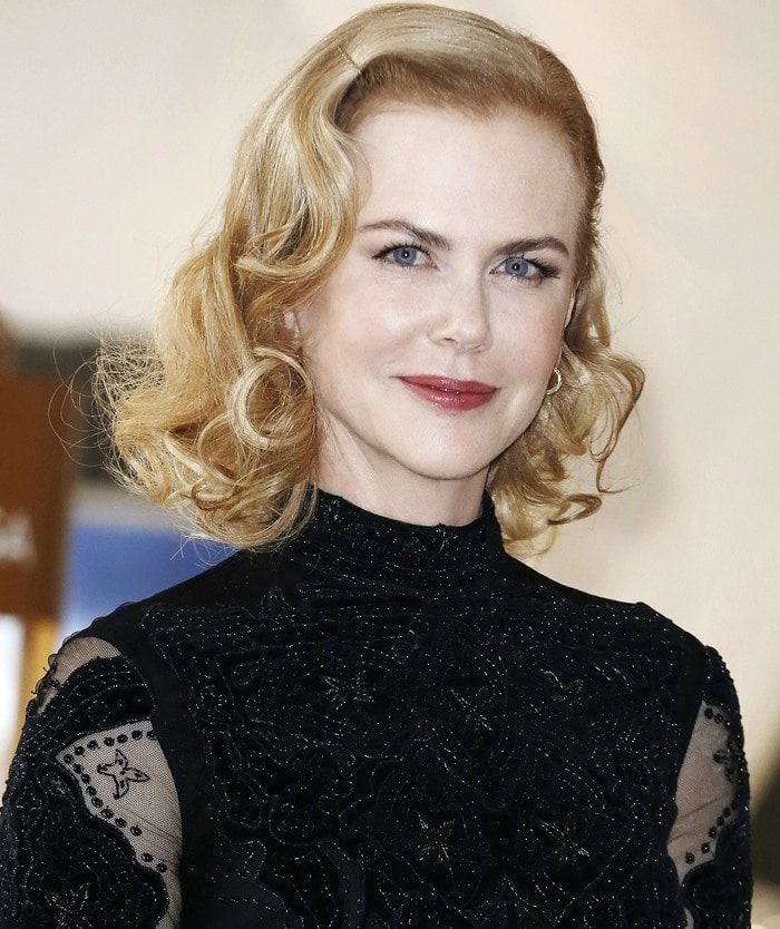 Nicole Kidman attends the 'Her Time, 100 years of OMEGA women's watches' exhibition