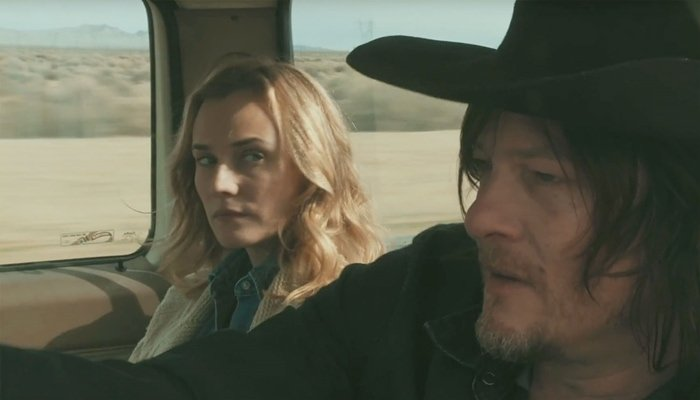 Norman Reedus and Diane Kruger met for the first time on the set of Sky