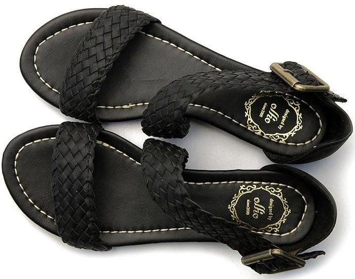 Ollio Braided Flat Sandals