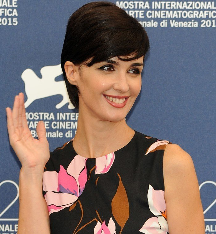 Paz Vega in a floral dress while attending their Venezia 72 Jury Photo Call held during the 2015 Venice Film Festival