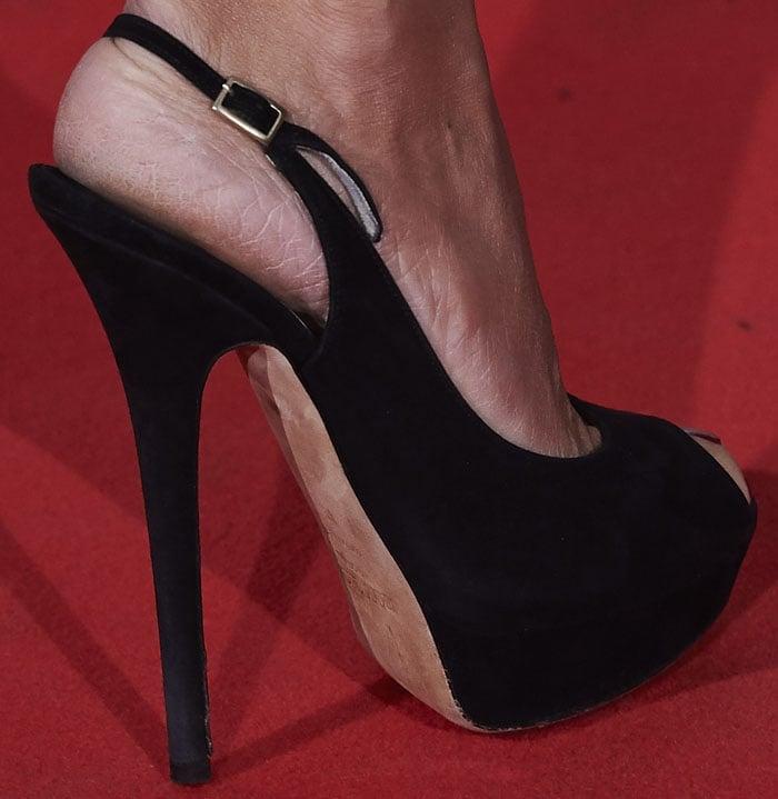 Penelope Cruz wears towering Jimmy Choo heels on the red carpet