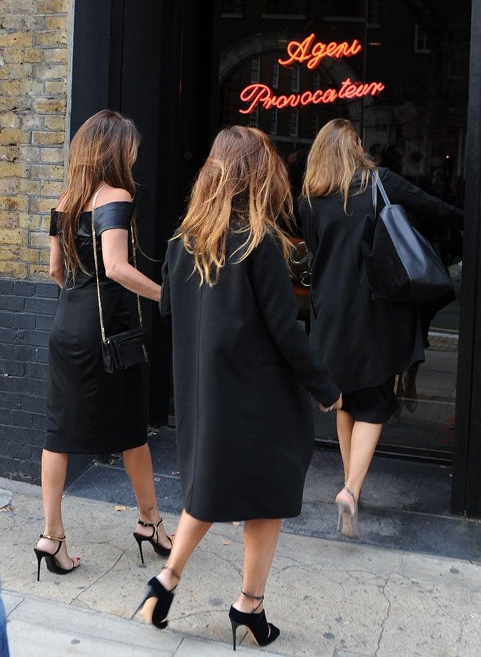 Penelope Cruz visited Agent Provocateur's London head office
