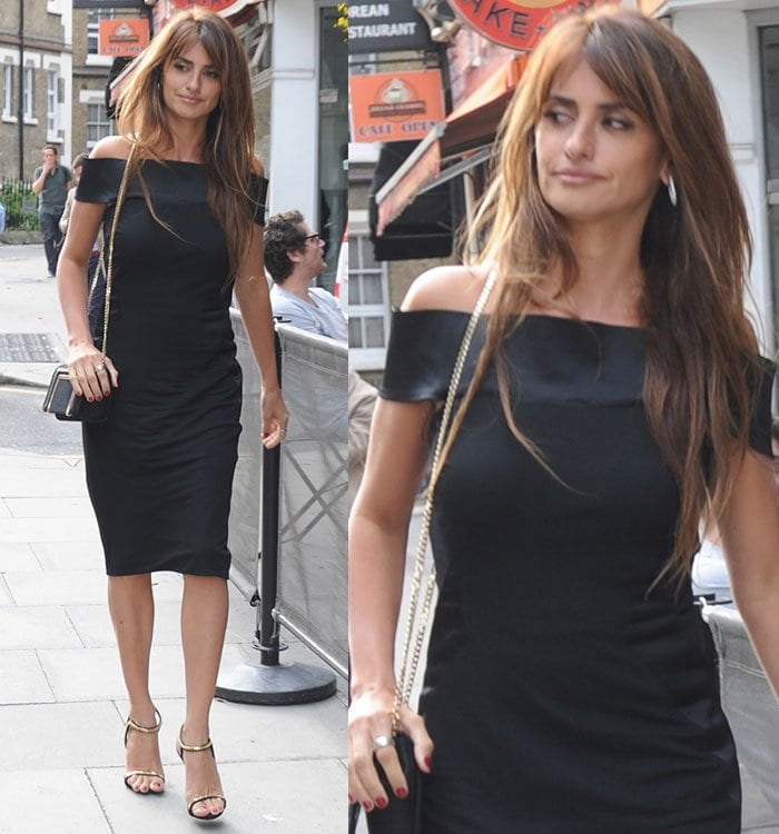Penelope Cruz arriving at Agent Provocateur head offices in London, England, on September 4, 2015
