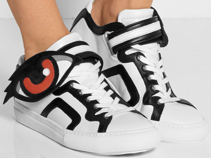 Pierre Hardy Oh Roy Leather and Suede Sneakers