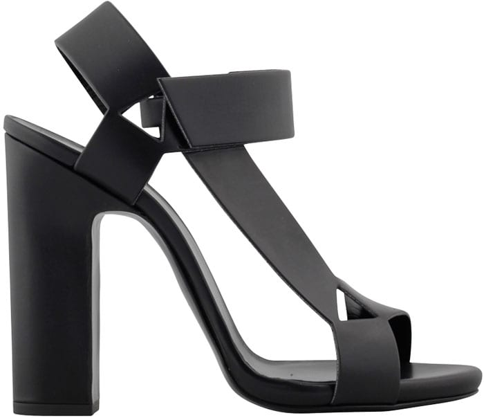 "Pierre Hardy ""Ultimate"" Leather Sandal in Black"