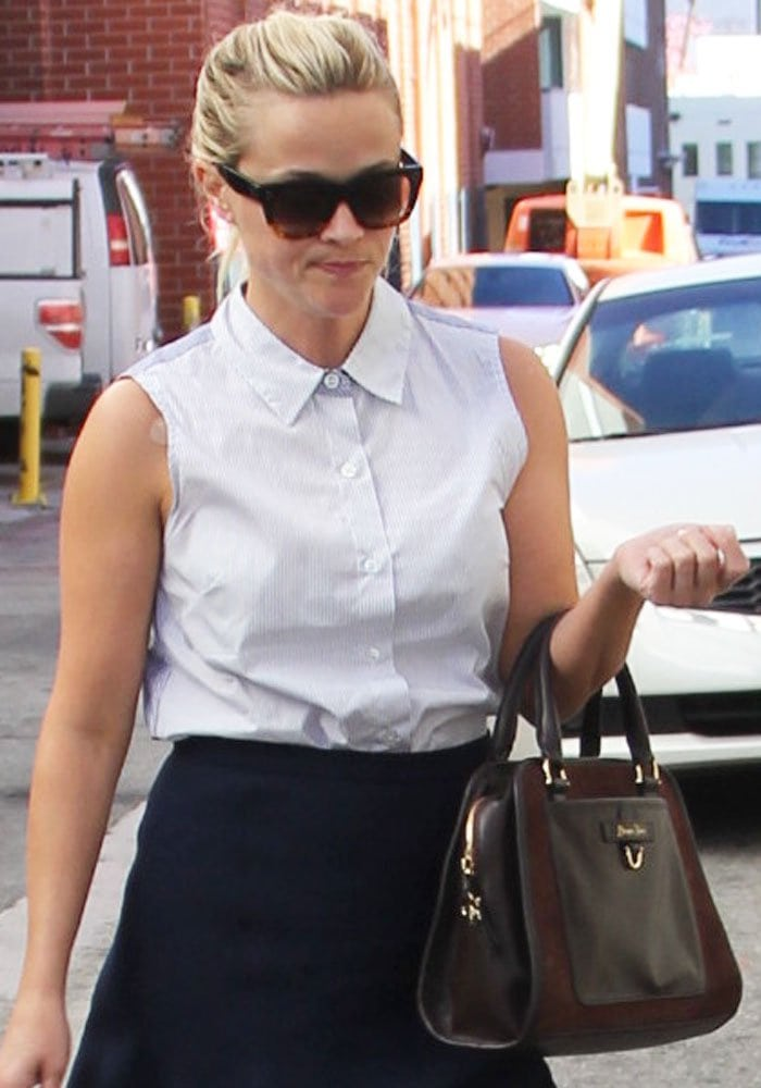 Reese Witherspoon goes shopping in Beverly Hills