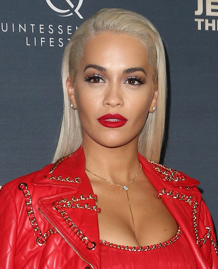 """Rita Ora at the world premiere of """"Jeremy Scott: The People's Designer"""" at the TCL Chinese Theatre in Hollywood on September 8, 2015"""