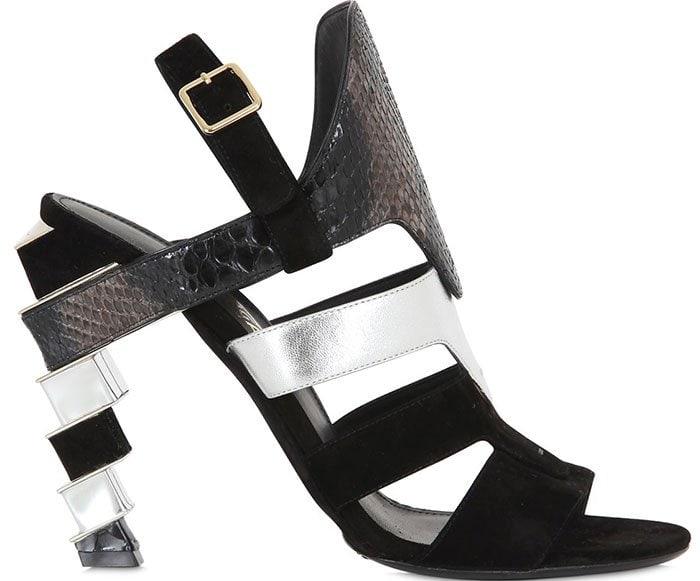Salvatore-Ferragamo-Laos-Suede-and-Python-Sandals