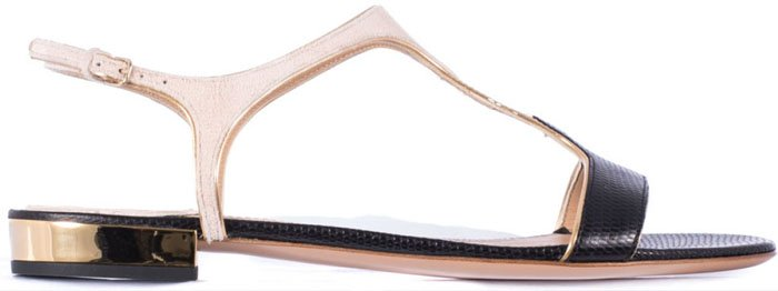 Salvatore Ferragamo Mix T Bar Sandals Black