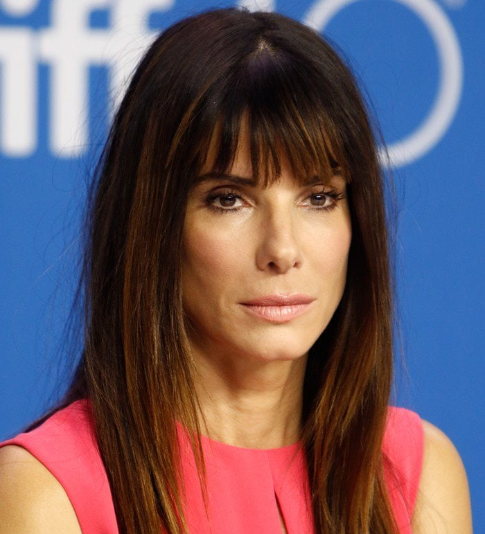 "Actress Sandra Bullock attends the press conference for ""Our Brand Is Crisis"" held during the 2015 Toronto International Film Festival"
