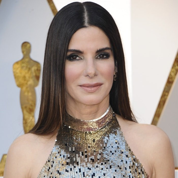 Sandra Bullock says her fuller cheeks are not the result of plastic surgery