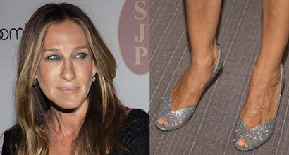 ff5827f1e7a9 Sarah Jessica Parker Really Loves Her Glittering Naomi Pumps