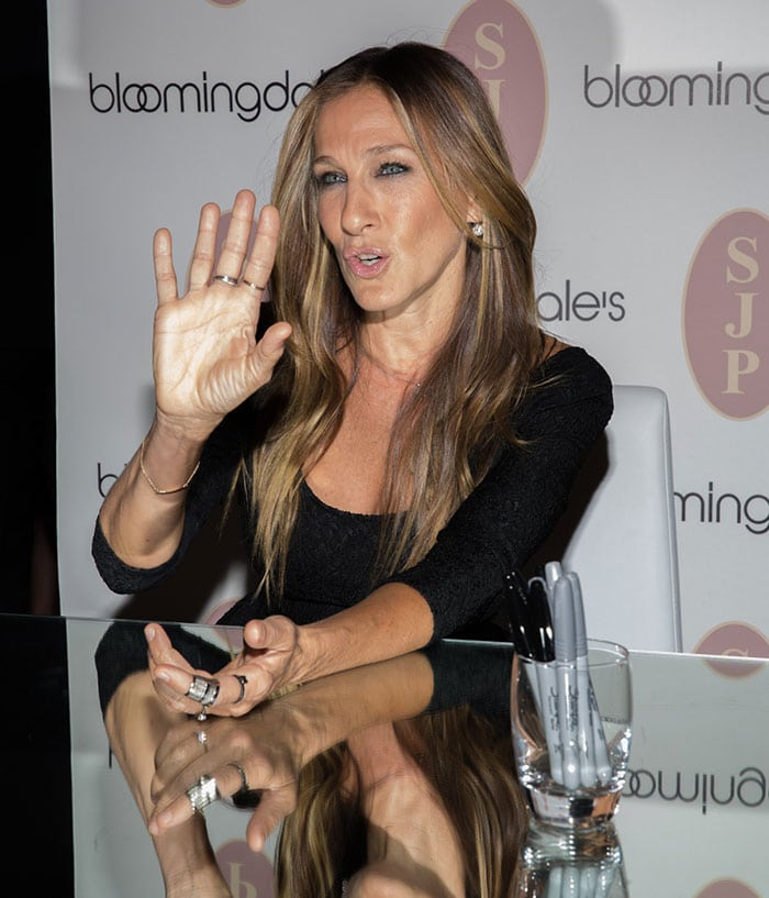 a20280a9c4ba Sarah Jessica Parker Really Loves Her Glittering Naomi Pumps