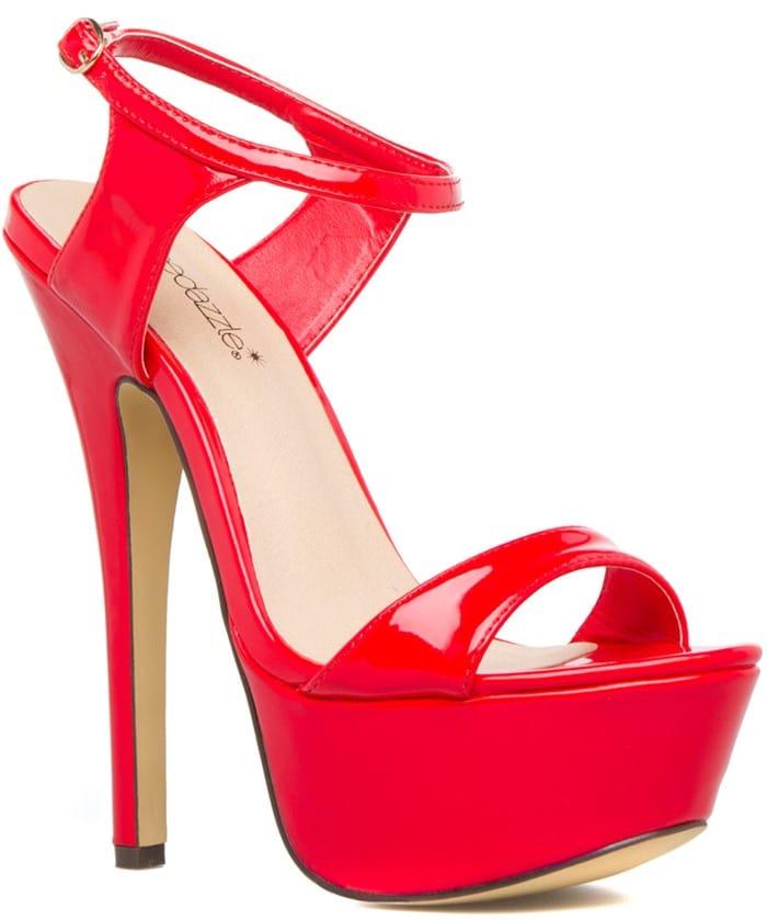 Red Sassy Sky-High Platform Heels