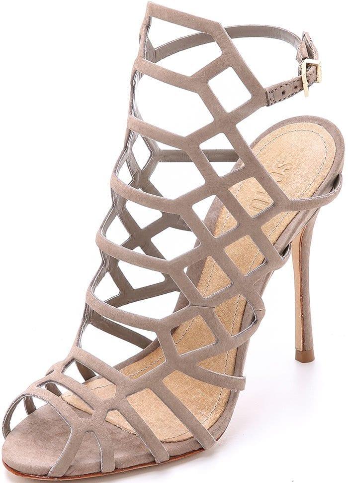 Beige Schutz Juliana Caged Sandals