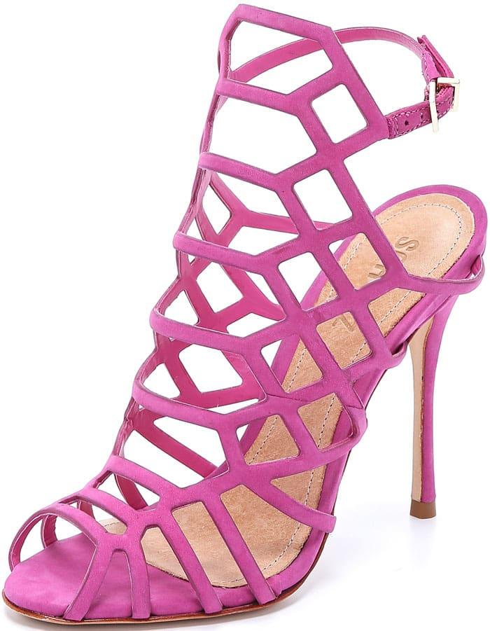 Schutz Juliana Caged Sandals Pink