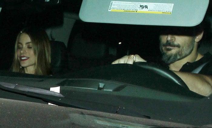 Sofia Vergara dines at Craig's restaurant in Hollywood with her fiancé Joe Manganiello