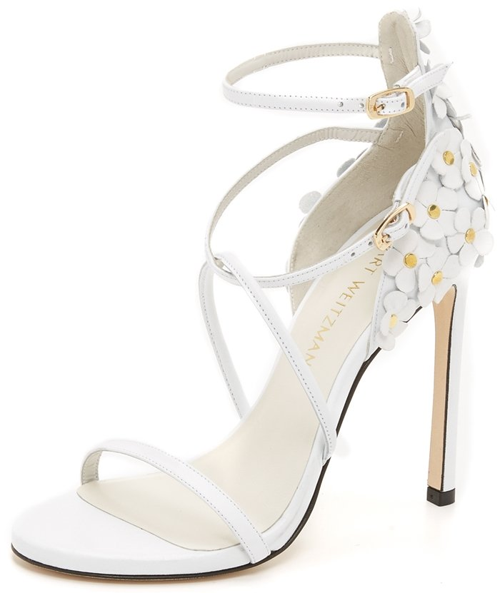 Stuart Weitzman Wildthing Floral Leather Leather Sandal