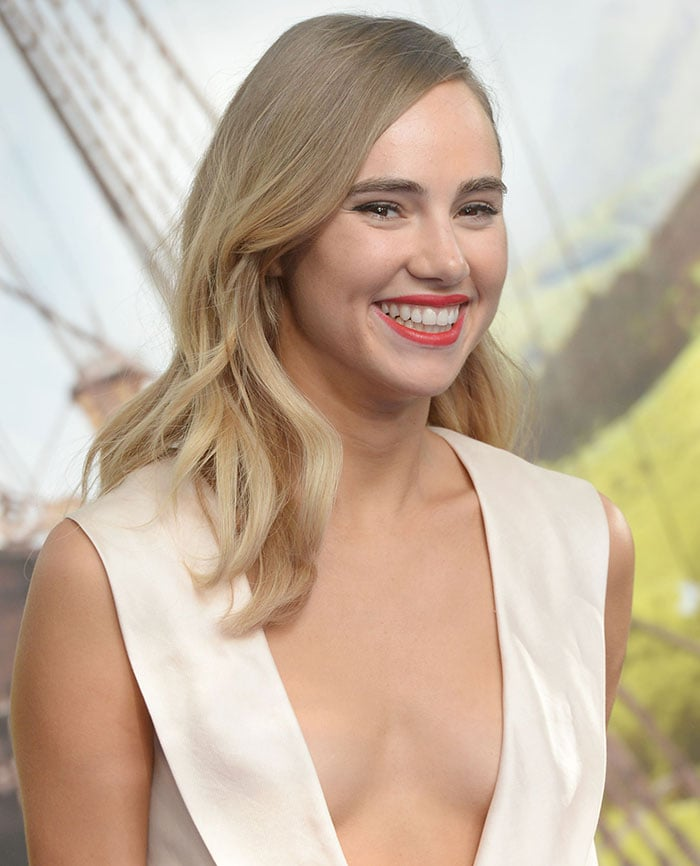 "Suki Waterhouse attends the world premiere of ""Pan"" at Leicester Square"