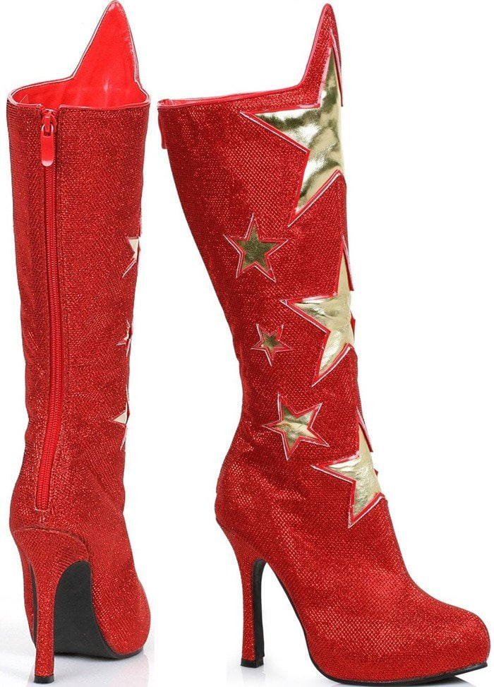 Red Superhero Star Boots